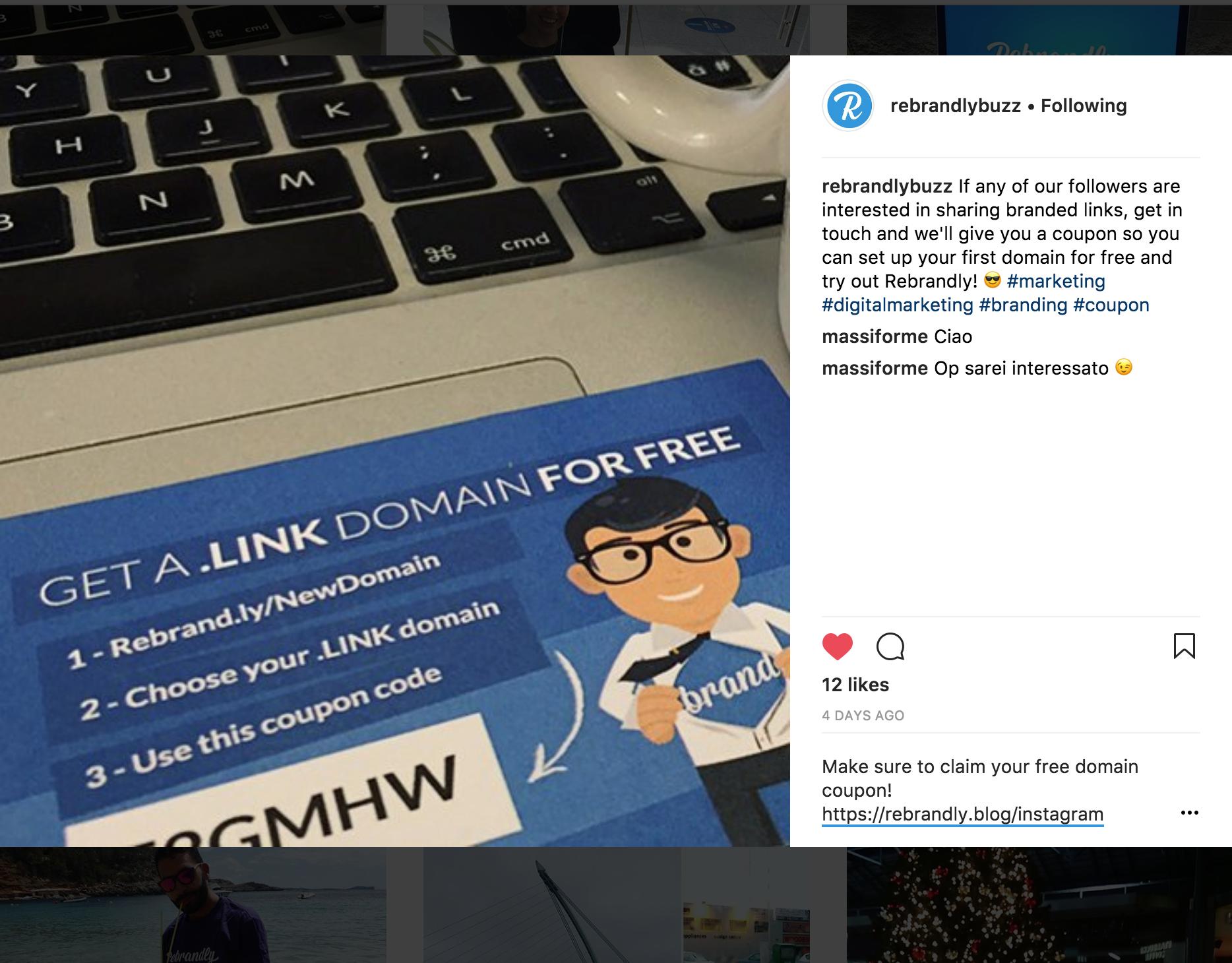 Instagram URL Shortener – Rebrandly