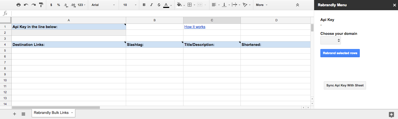 Google Drive: Bulk Link Creation with Google Sheets – Rebrandly