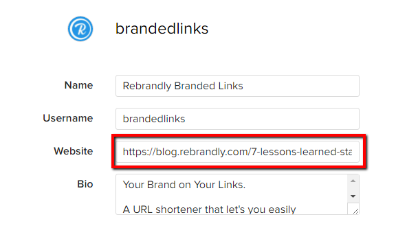 Edit and Brand Your Instagram Bio Link – Rebrandly