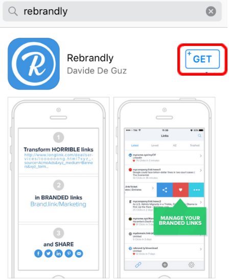 iOS: Download and Install Rebrandly for iPhone – Rebrandly
